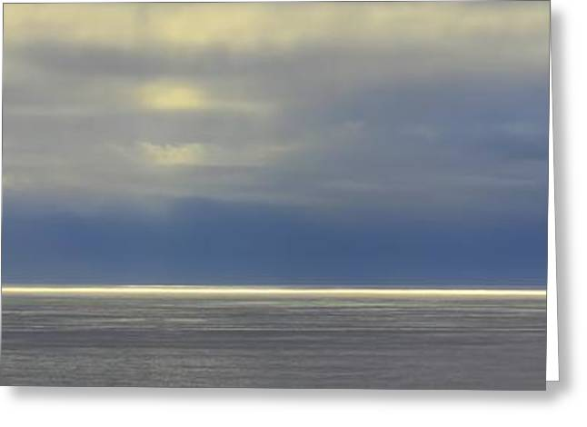 Big Sur California Greeting Cards - Illumined Horizon Line Greeting Card by Karen Jensen