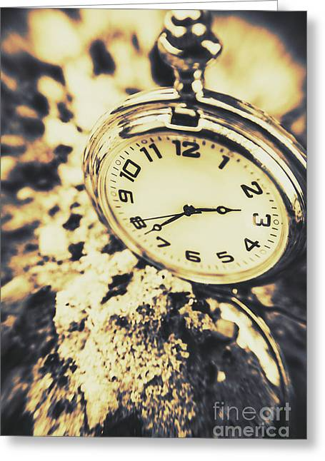 Illusive Time Greeting Card by Jorgo Photography - Wall Art Gallery