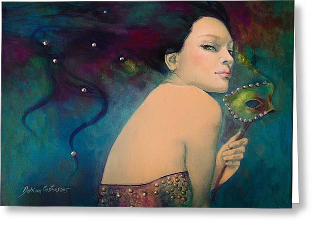Carnivale Greeting Cards - Illusory Greeting Card by Dorina  Costras