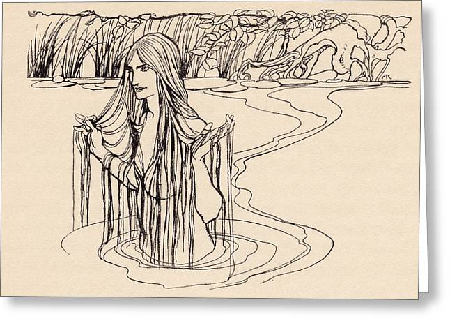 Human Spirit Drawings Greeting Cards - Illustration From Grimm S Fairy Tale Greeting Card by Vintage Design Pics