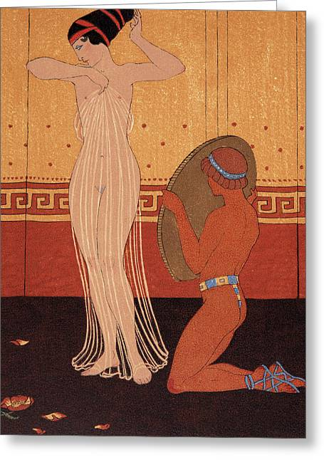 Illustration From Les Chansons De Bilitis Greeting Card by Georges Barbier