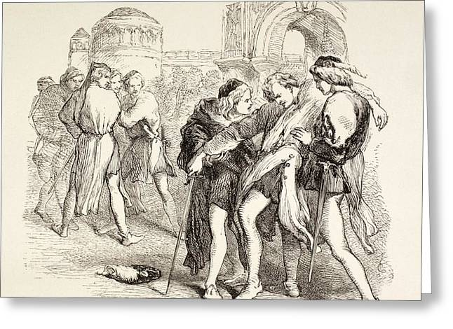 Illustration From Romeo And Juliet By Greeting Card by Vintage Design Pics