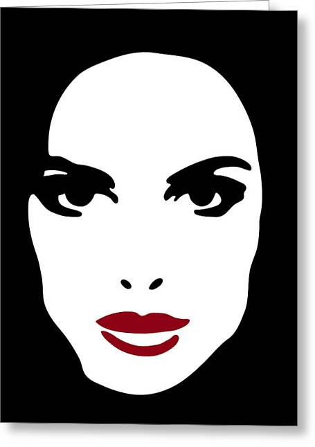 Stencil Art Greeting Cards - Illustration of a woman Greeting Card by Frank Tschakert