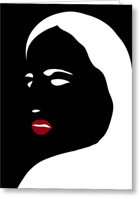 Fashion Abstract Art Greeting Cards - Illustration of a woman in fashion Greeting Card by Frank Tschakert