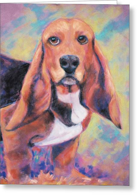 Canines Pastels Greeting Cards - Im All Ears Ears Greeting Card by Billie Colson