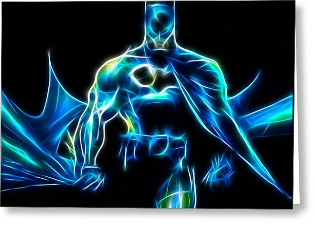 Book Art Greeting Cards - Im Batman  Greeting Card by Pamela Johnson