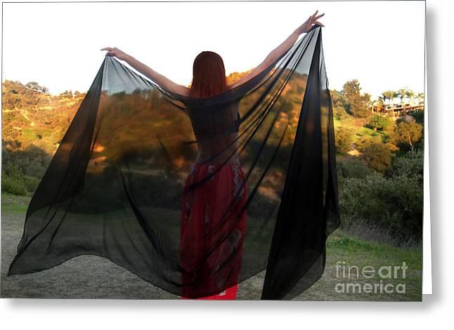 I'm Gothic Queen-crow Greeting Card by Sofia Goldberg