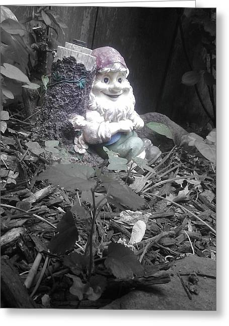 I'm So Gnomely Greeting Card by Brynn Ditsche