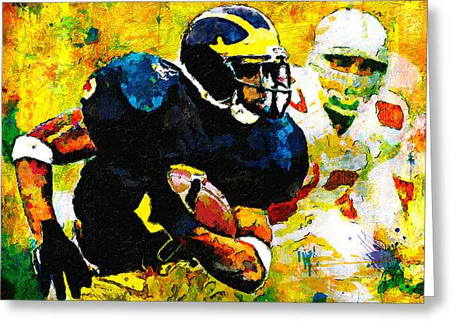 Woodson Greeting Cards - Im The Man At The Big House Greeting Card by John Farr