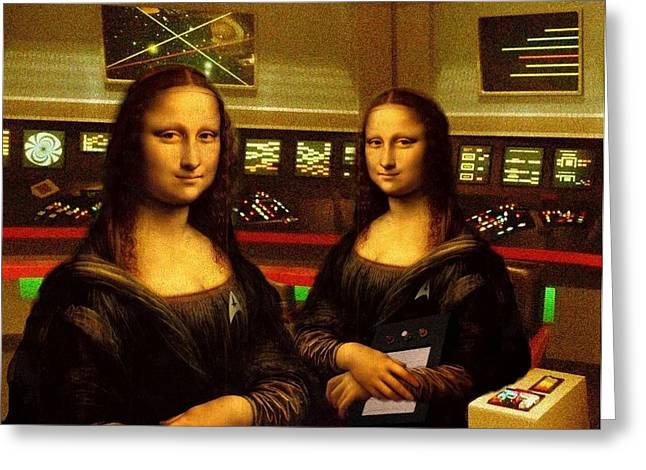 Enterprise Digital Art Greeting Cards - Im the Mona Lisa Greeting Card by Reggie Rivera