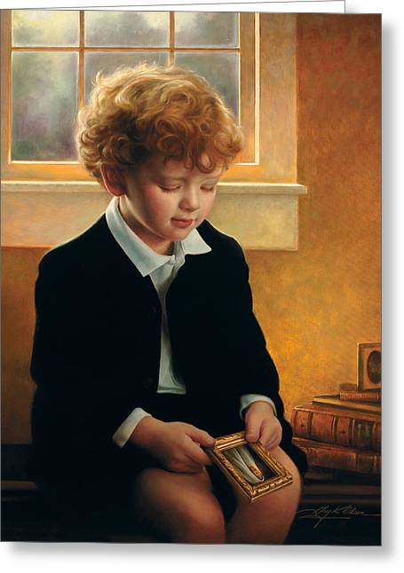 Boys Greeting Cards - Im Trying To Be Like Jesus Greeting Card by Greg Olsen