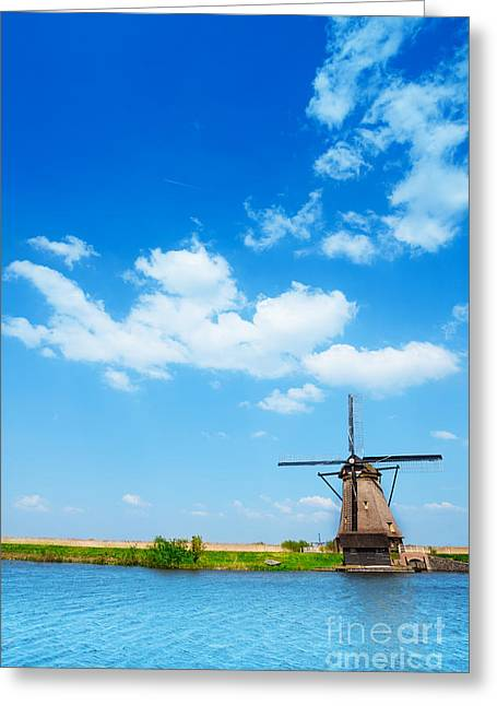 Rustenburg Greeting Cards - Image of windmill in Netherlands near Rotterdam  Greeting Card by Sergey Novikov