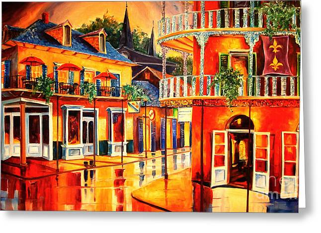 Red Art Greeting Cards - Images of the French Quarter Greeting Card by Diane Millsap
