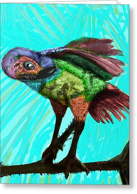 Seeking Rest Greeting Cards - Imaginary Bird Rests Greeting Card by Emmanuel Sebastian