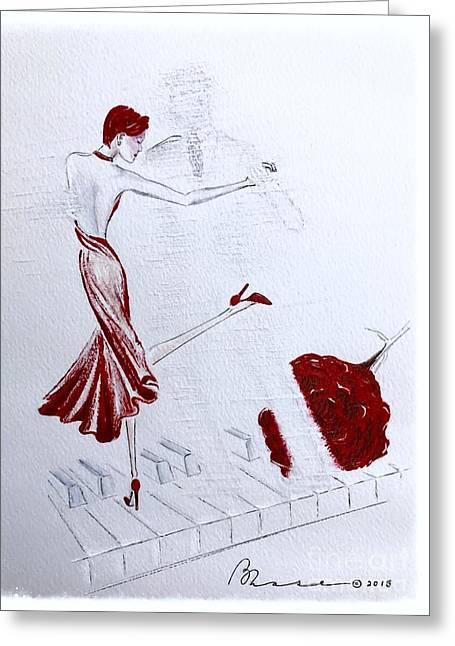 Visualize Greeting Cards - Imaginary Tango Greeting Card by Barbara Chase