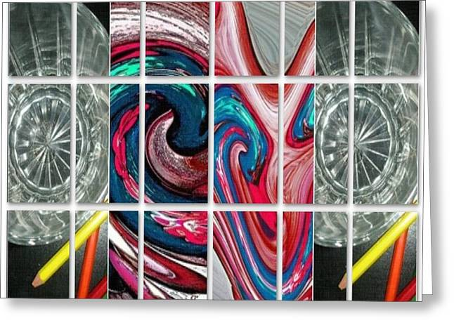 Imagination Glass Greeting Cards - Imagination Greeting Card by Fania Simon
