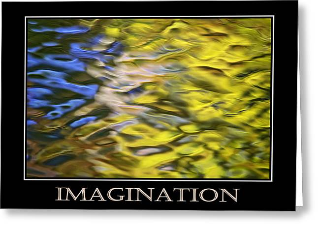 Imagination  Inspirational Motivational Poster Art Greeting Card by Christina Rollo