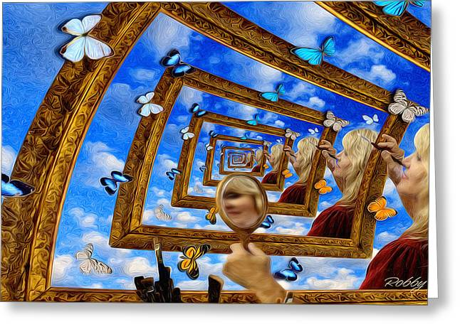 Droste Greeting Cards - Imaginations Greeting Card by Robby Donaghey