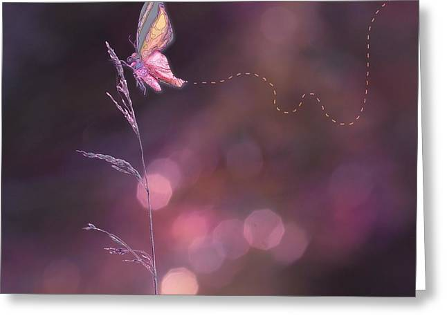 Imagine ... Believe It - 02a Greeting Card by Variance Collections