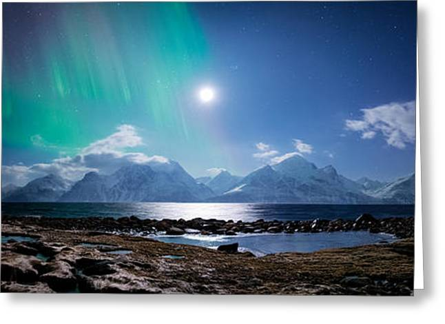 Alps Greeting Cards - Imagine Auroras Greeting Card by Tor-Ivar Naess