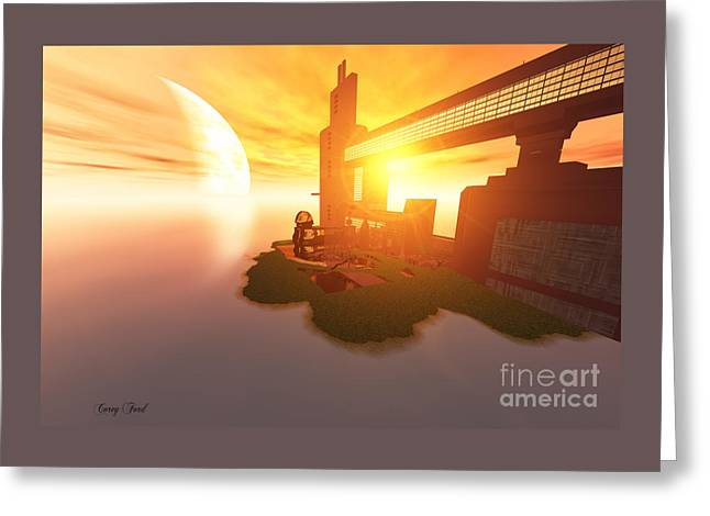Imagine Greeting Card by Corey Ford