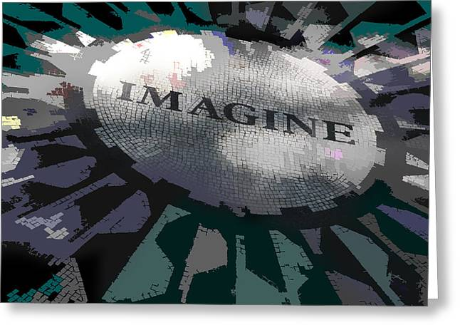 Imagined Greeting Cards - Imagine Greeting Card by Kelley King