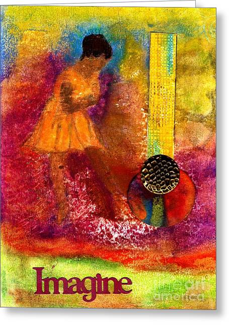 Bible Mixed Media Greeting Cards - Imagine Winning Greeting Card by Angela L Walker