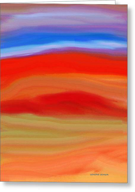 Layers Greeting Cards - Imagining Greeting Card by Lenore Senior