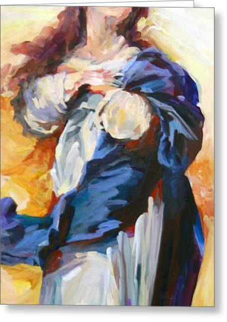 Rosary Greeting Cards - Immaculate Conception Greeting Card by Christine Brinson