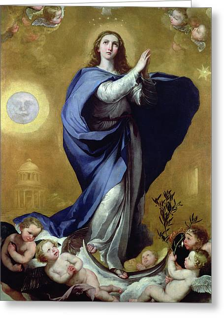 Immaculate Conception Greeting Card by Jusepe de Ribera