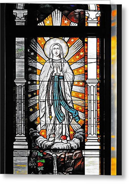 Rosary Greeting Cards - Immaculate Conception San Diego Greeting Card by Christine Till