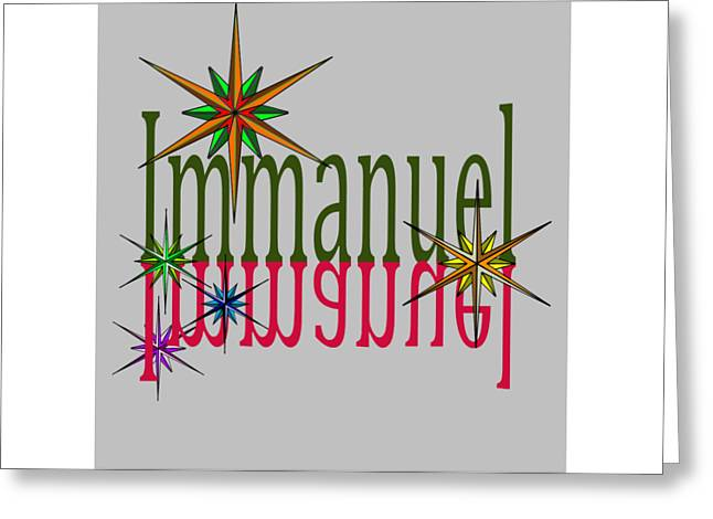 Bible Mixed Media Greeting Cards - Immanuel Greeting Card by Levi Soucy