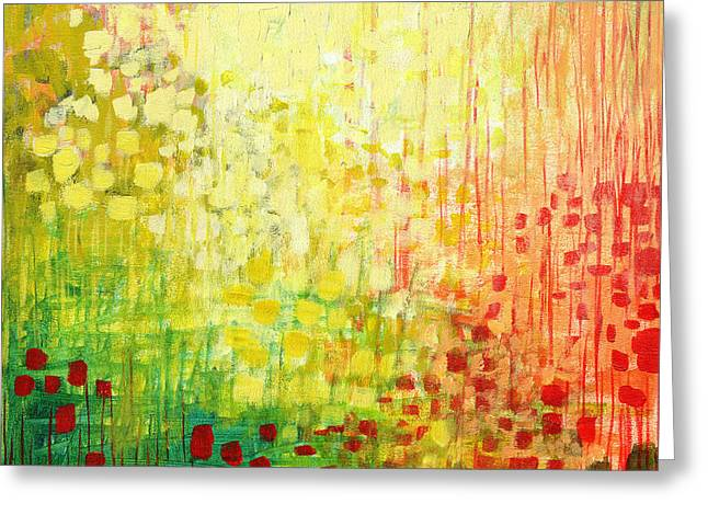 Yellow Paintings Greeting Cards - Immersed No 2 Greeting Card by Jennifer Lommers