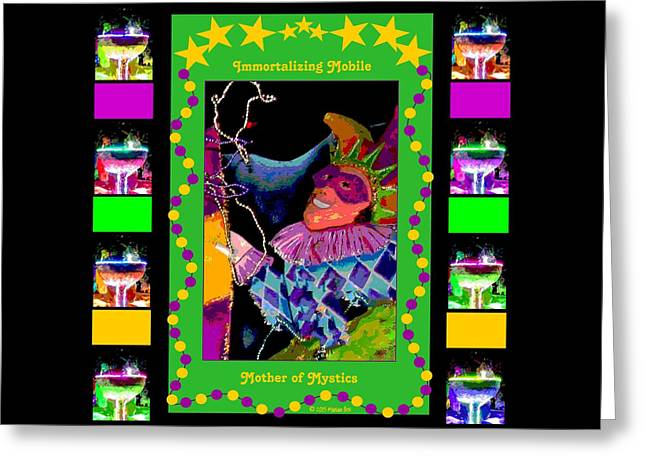 Champagne Glasses Greeting Cards - Immortalizing Mobile Greeting Card by Marian Bell