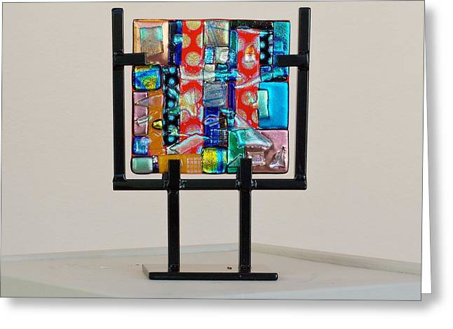 Contemporary Glass Art Greeting Cards - Impact Greeting Card by Mark Lubich