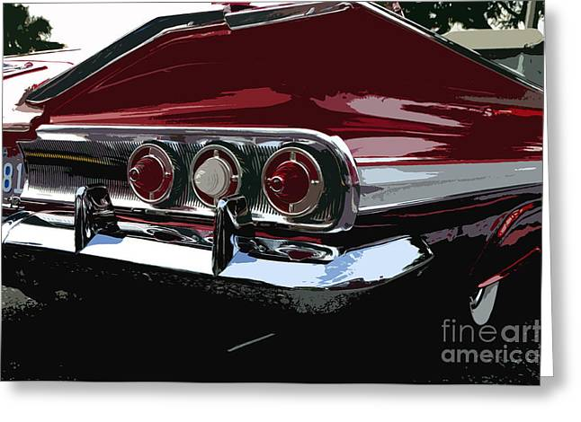 Antic Car Greeting Cards - Impala Greeting Card by David Lee Thompson