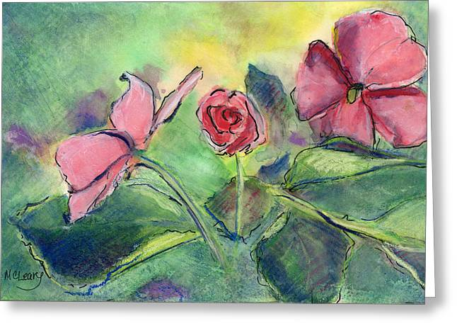 Impatiens Flowers Greeting Cards - Impatiens Bud Greeting Card by MaryAnn Cleary