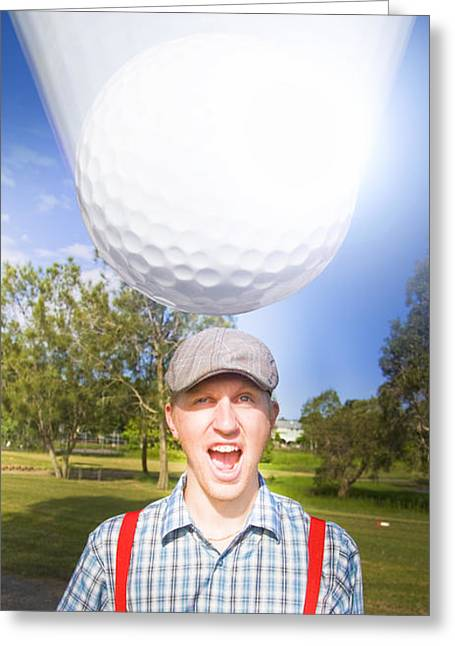 Impending Golf Injury Greeting Card by Jorgo Photography - Wall Art Gallery
