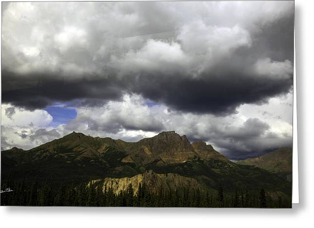 Impending Greeting Cards - Impending Rain - Alaska Greeting Card by Madeline Ellis