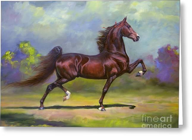 Imperator Greeting Card by Jeanne Newton Schoborg
