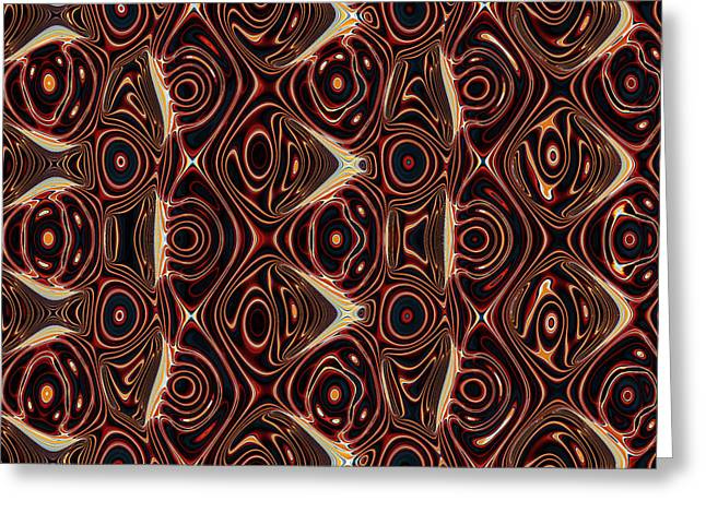 Algorithmic Abstract Greeting Cards - Imperfect Repetition No. 3 Greeting Card by Mark Eggleston