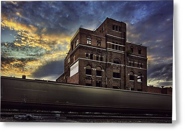 Abandoned Train Greeting Cards - Imperial Brewery Greeting Card by Thomas Zimmerman