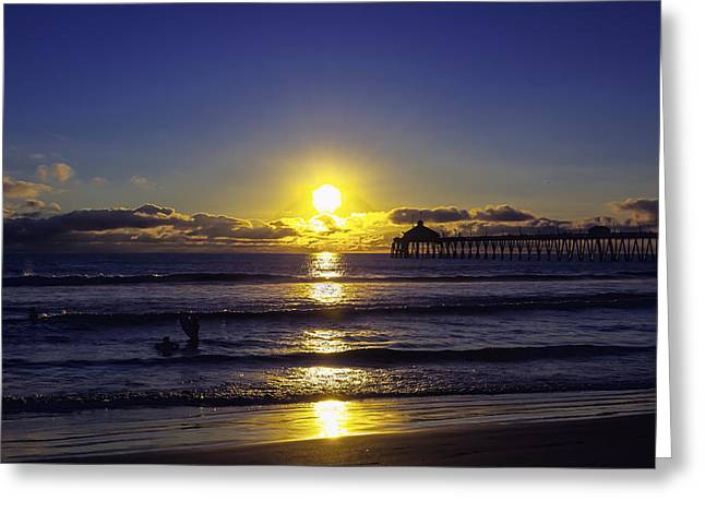 Souls Greeting Cards - Imperial Sunset Greeting Card by Phil Fitzgerald