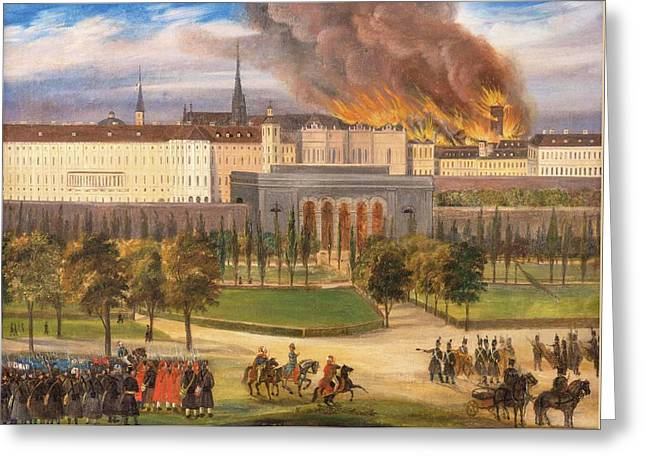 Imperial Troops Greeting Card by Wiener October Revolution
