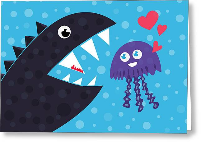 Impossible Love Greeting Card by Boriana Giormova