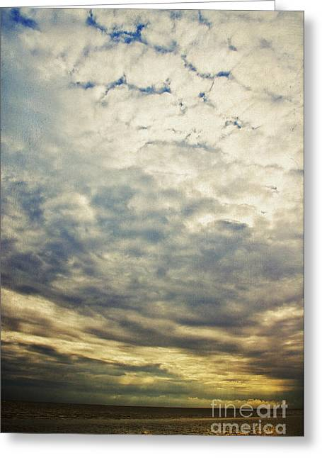 Sky Sea Greeting Cards - Impression clouds Greeting Card by Angela Doelling AD DESIGN Photo and PhotoArt