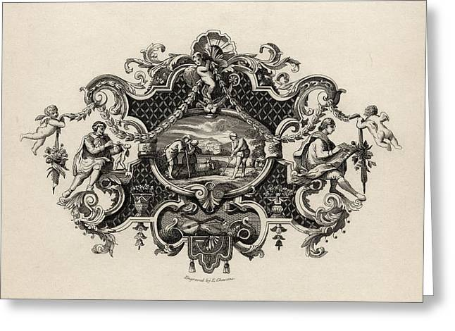 Silver Drawings Greeting Cards - Impression From A Silver Tankard Greeting Card by Ken Welsh
