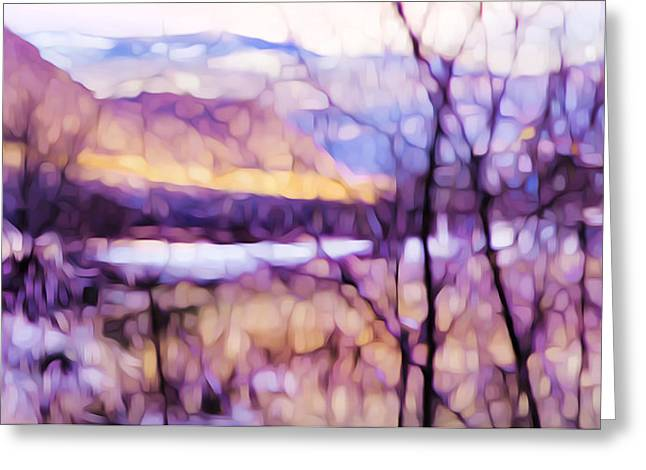 Impressionist Along The River Greeting Card by Theresa Tahara