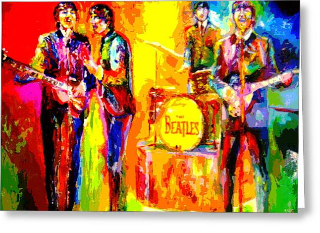 Impressionistc Beatles  Greeting Card by Leland Castro
