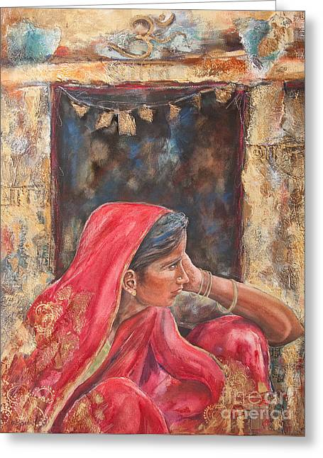 Kate Bedell Greeting Cards - Impressions 0f India Greeting Card by Kate Bedell